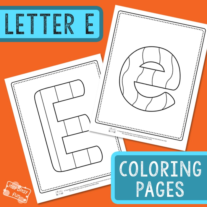 Letter E Coloring Pages for Kids