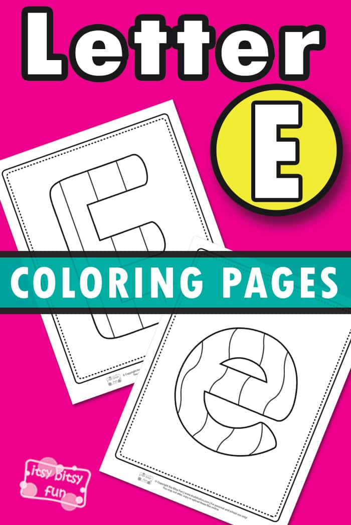Letter E Pages to Color