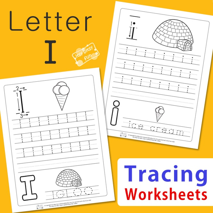 Letter I Tracing Worksheets