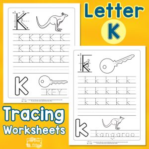 Letter K Tracing Worksheets