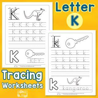 Letter K Tracing Worksheets
