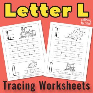 Letter L Tracing Worksheets