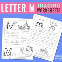 Letter M Tracing Worksheets
