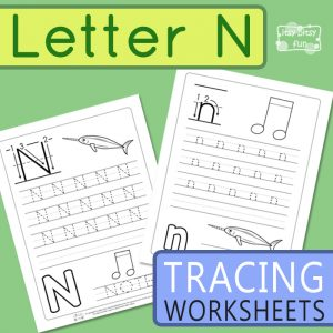 Letter N Tracing Worksheets