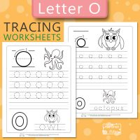 Letter O Tracing Worksheets