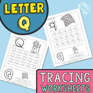 Letter Q Tracing Worksheets