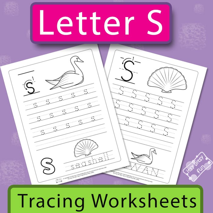 Letter S Tracing Worksheets