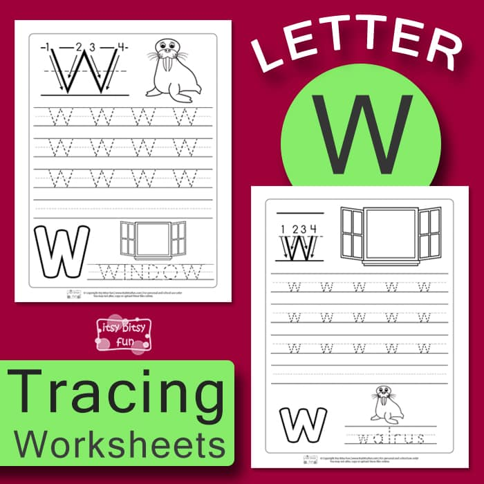 Letter W Tracing Wroksheets
