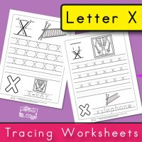 Letter X Tracing Worksheets