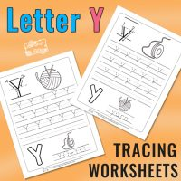 Letter Y Tracing Worksheets