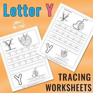 Letter Y Tracing Worksheets