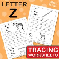 Letter Z Tracing Worksheets