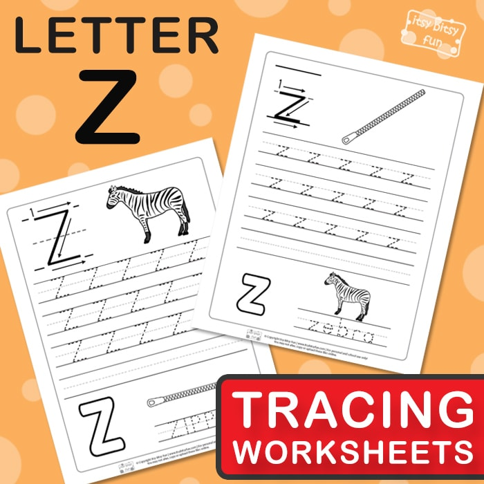 Letter Z Tracing Wroksheets