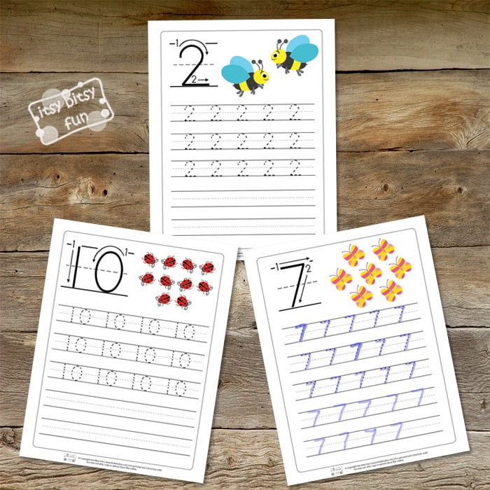 Spring Number Tracing Worksheets