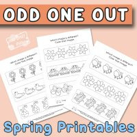 Spring Odd One Out Printables