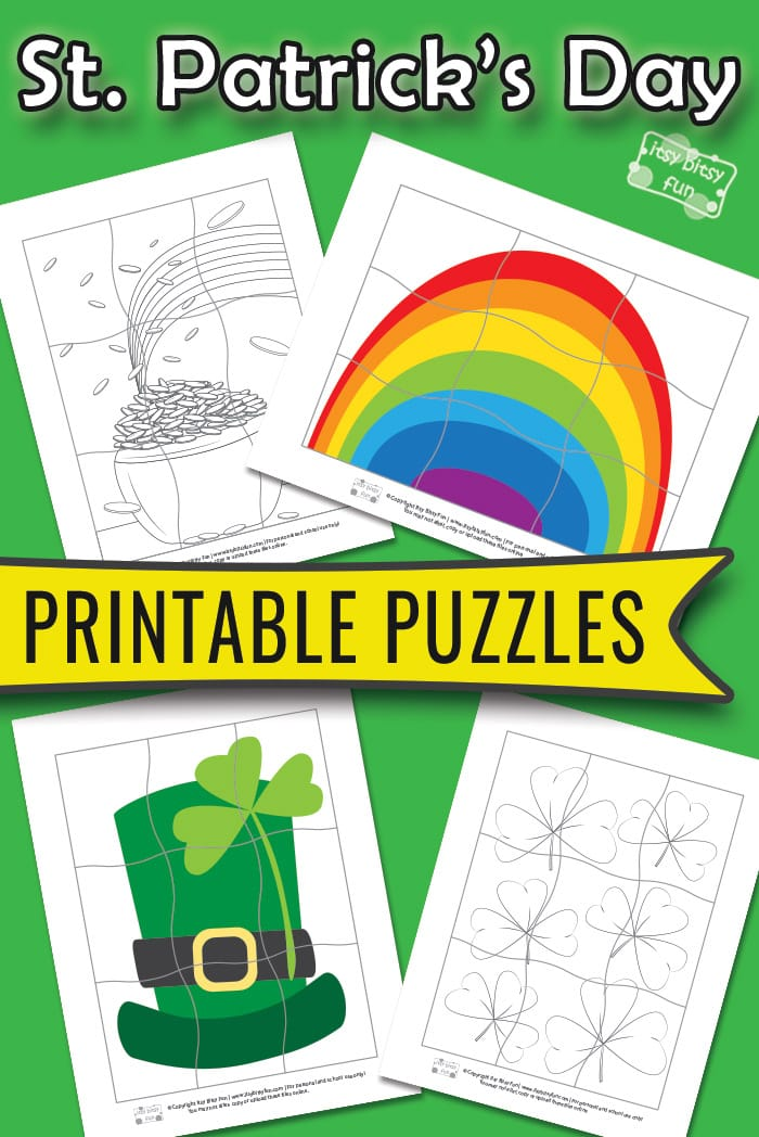 St. Patrick's Day Printable Puzzles for Kids #printablepuzzlesforkids #freeprintables #preschool