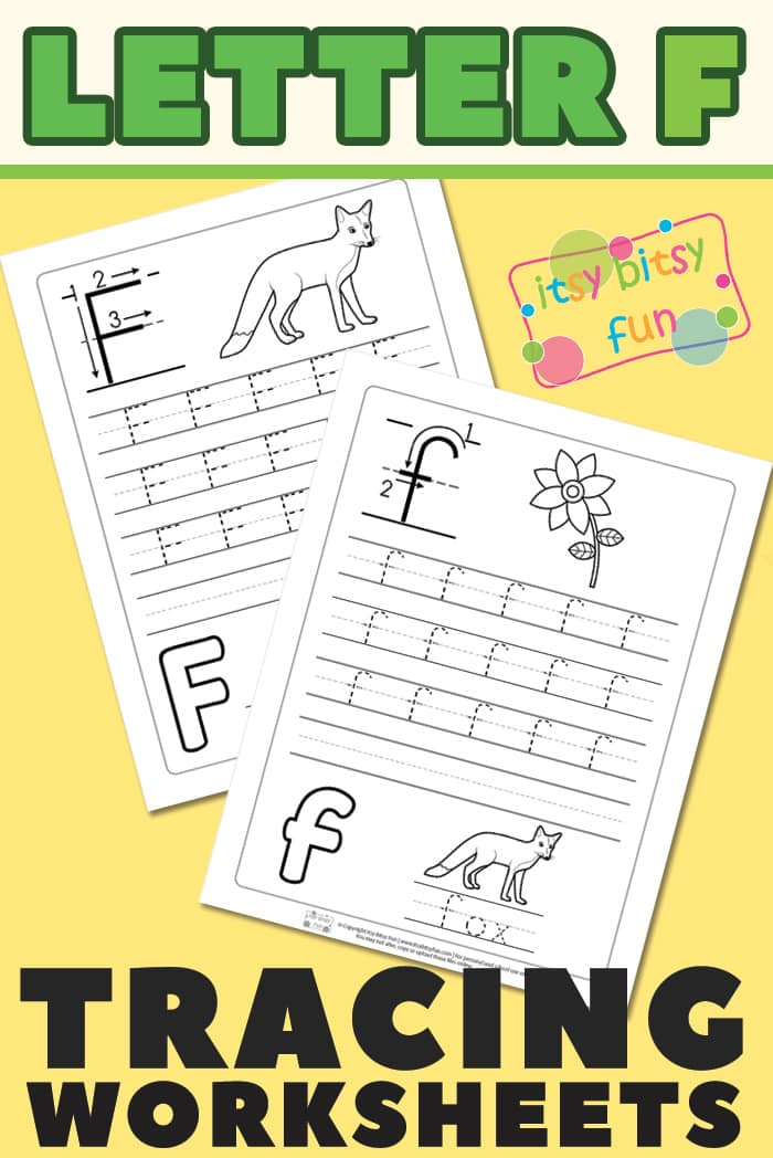 Trace and Write - Letter F Worksheets