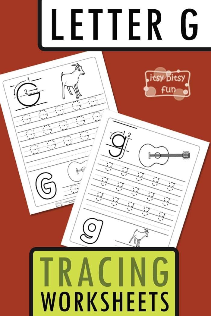 Letter G Tracing Worksheets for Kids #tracingworksheets #freeprintables #alphabetworksheets