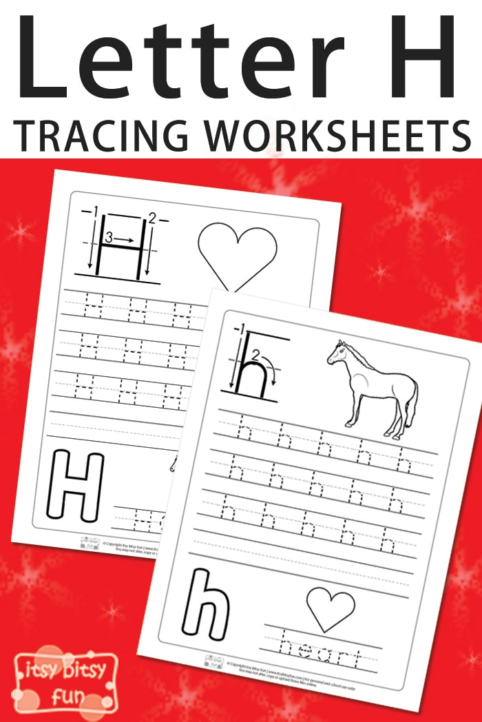 Trace and Write - Letter H Worksheets