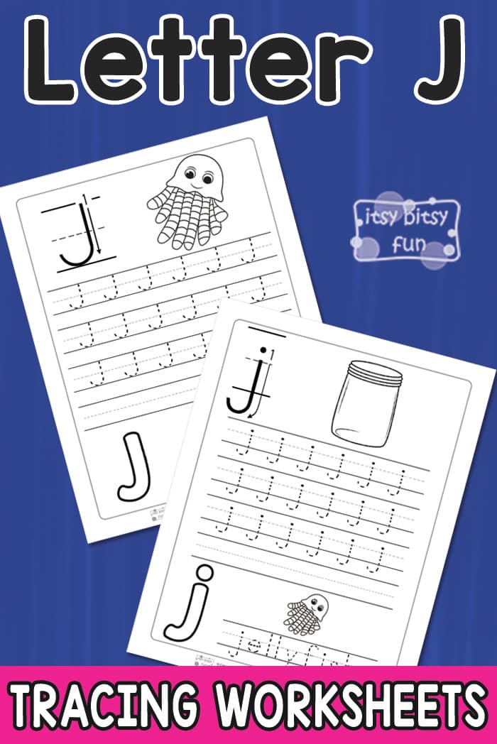 Free Printable Letter J Tracing Worksheets for Kids
