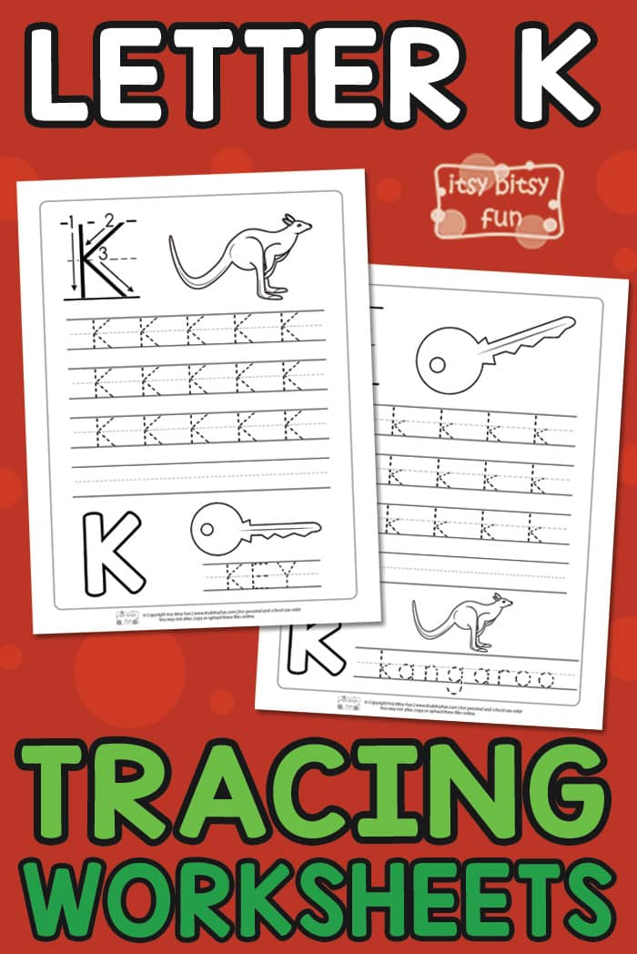 Letter K Tracing Worksheets for Kids