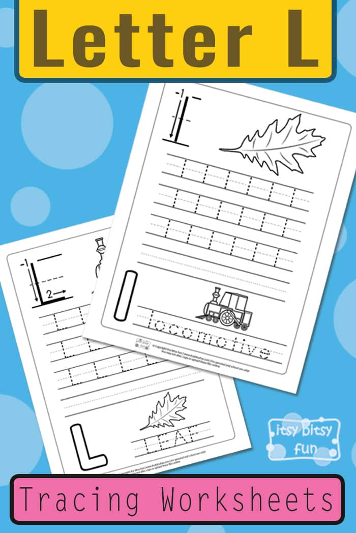 Letter L Tracing Worksheets for Kids