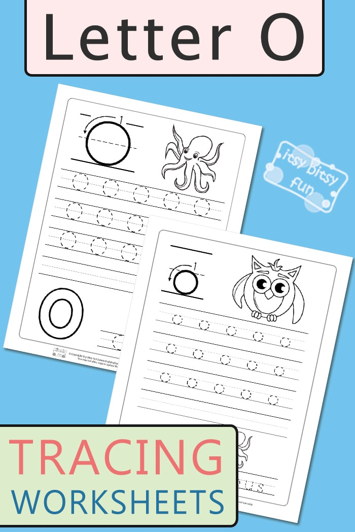 Letter O Tracing Worksheets for Kids