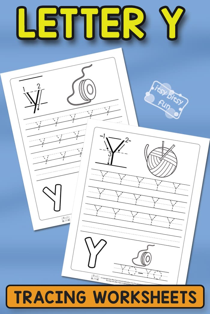 Free Prinable Letter Y Tracing Worksheets for Kids #tracingworksheets #alphabetprintables #freeprintables