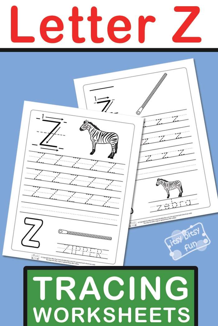 Free Printable Letter Z Tracing Worksheets for kids #lettertracing #alphabetworksheet #freeprintable