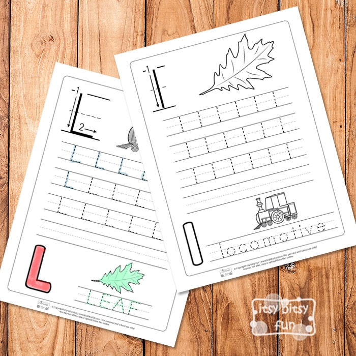 Trace the Letter L Worksheets