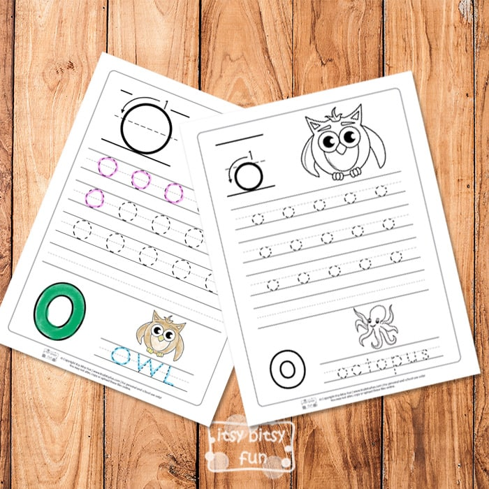 Trace the Letter O Worksheets
