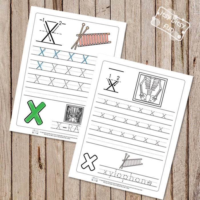 Trace the Letter X Worksheets