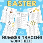 Tracing Numbers to 10 - Easter Worksheets