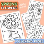 Color the Flowers - Pages for Printing