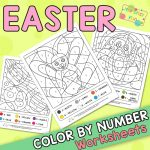 Easter Coloring by Number Worksheets