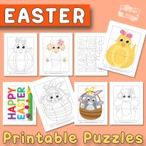 Easter Printable Puzzles for Kids