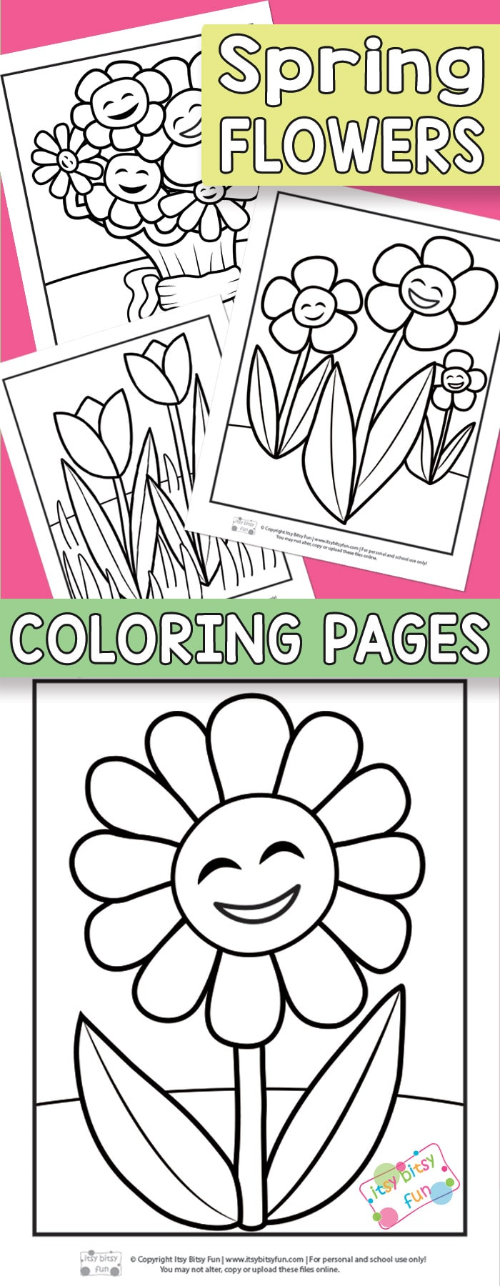Flower Coloring Pages For Kids Itsybitsyfun Com
