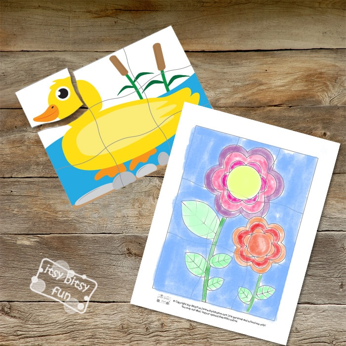 Printable Puzzles - Spring