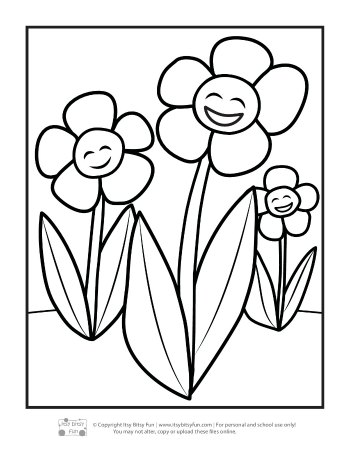 Spring Coloring Pages for Kids | Creative Coloring Blog | 451x350