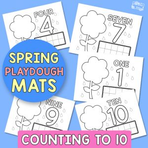 Spring Playdough Mats - Counting to 10