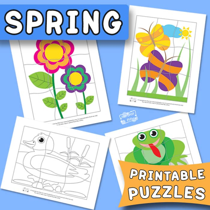 image relating to Spring Printable named Spring Printable Puzzles for Young children - Itsy Bitsy Exciting