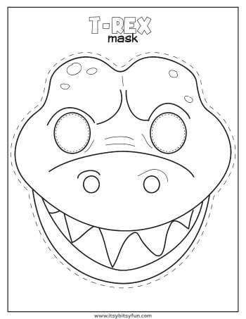 It's just an image of Soft Printable Dinosaur Masks