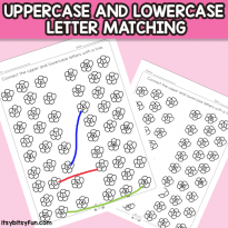 Flower Upper and Lowercase Letter Matching Worksheets
