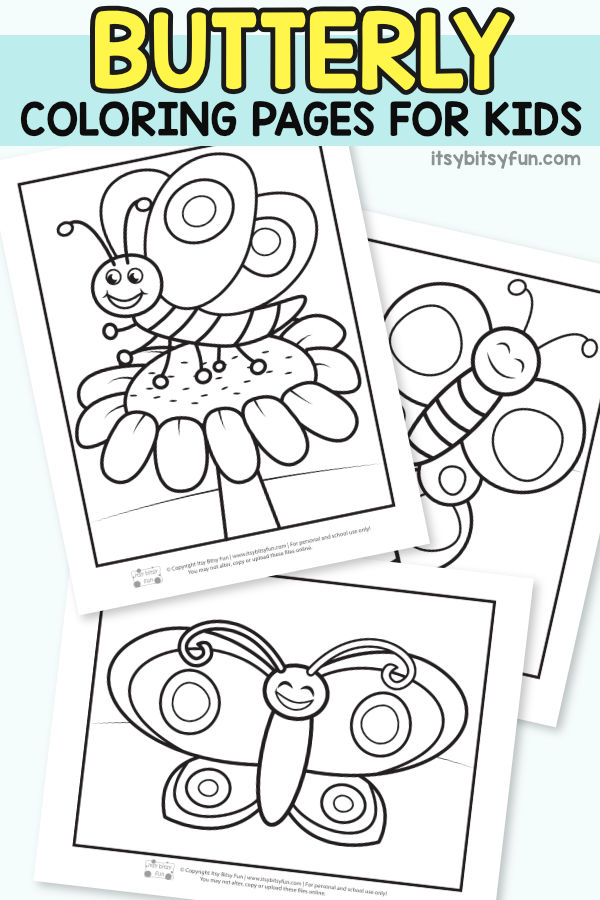 Free Printable Butterfly Coloring Pages for Kids #coloringpagesforkids #butterflycoloringpages #Springcoloringpages