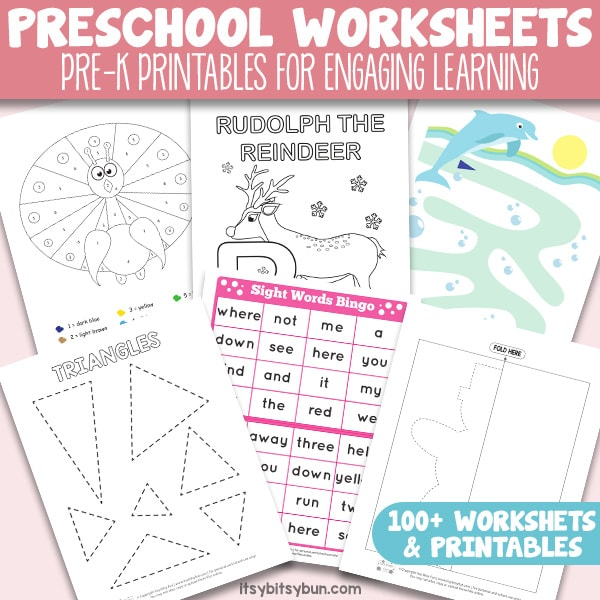 Preschool Worksheets Pre K Printables For Engaging Learning Itsy