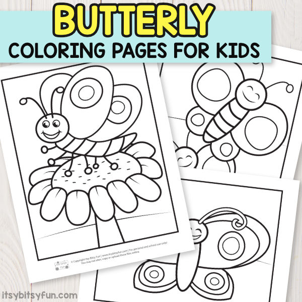 - Butterfly Coloring Pages For Kids - Itsybitsyfun.com