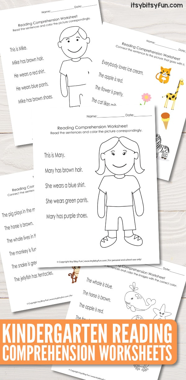 kindergarten reading comprehension worksheets  itsy bitsy fun kindergarten reading comprehension worksheets kindergartenworksheets  readingcomprehensionworksheets freeworksheets