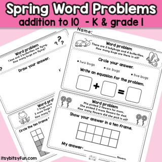 Kindergarten and Grade 1 Math Word Problems