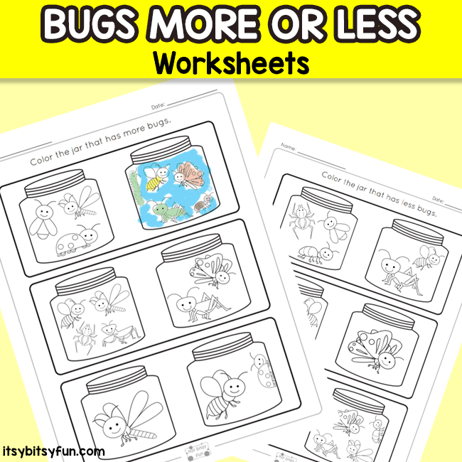 More or Less Comparison Worksheets