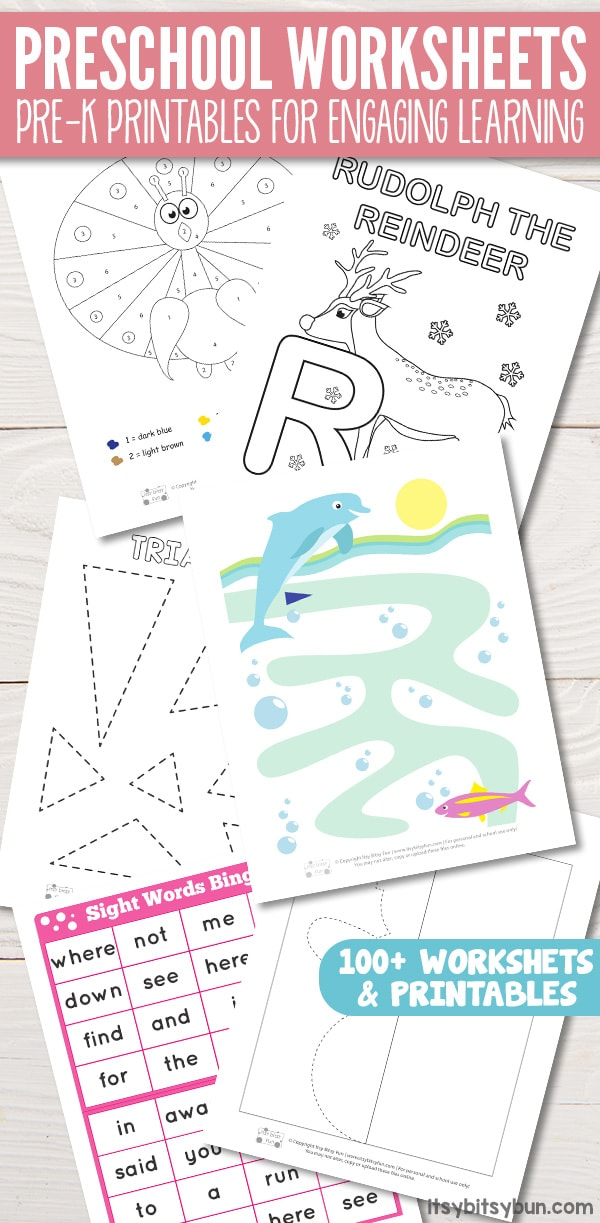 Free Printable Preschool Worksheets #freeprintablepreschoolworksheets #worksheetsforpreschool #printableactivities